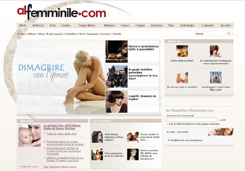 http://www.alfemminile.com/, importante e vivace community rivolta alle donne